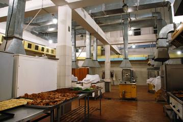 Old industrial kitchen interior