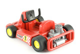 go cart racing car toy on white background