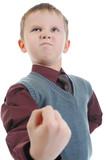 little bully threatens fist poster