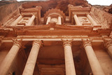 The Treasury building in Petra