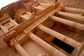 The Treasury building in Petra
