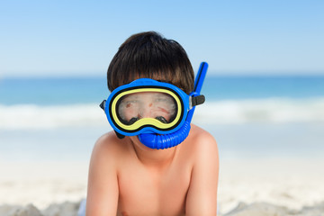A little boy on the beach