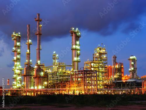Petrochemical plant in dusk