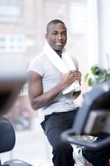 Attractive man at health club