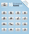 Gray Buttons - Ecological Icons 01