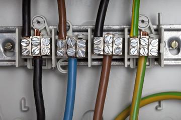 Verteilerkasten mit Stromkabel