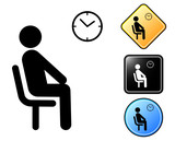 Waiting room pictogram and signs