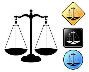 Justice pictogram and signs