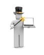Wizard and notebook.  Image contain clipping path
