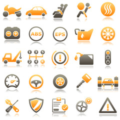Automotive Orange Icons