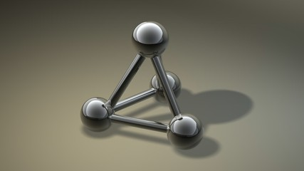 simple metallic grey molecular structure