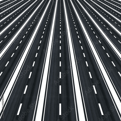 Many parallel roads towards infinity