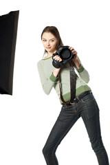 Girlwith screw eyes- photographer in studio