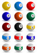 Set of Snooker Ball