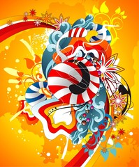 abstract circus vector illustration