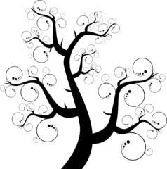 Абстрактный силуэт дерева