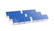 Photovoltaikanlage mit Sonneneinstrahlung