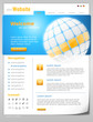 "Website Template ""Blue World"" Vektoren"
