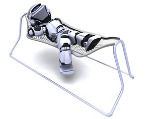 Robot Lying in a Hammock