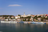 Belgrade, Capital of Serbia, view from the river Sava poster