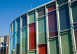 Leinwanddruck Bild - Colourful glass facade