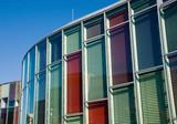Colourful glass facade