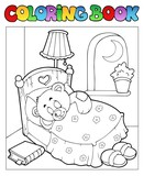 Fototapety Coloring book with teddy bear 1