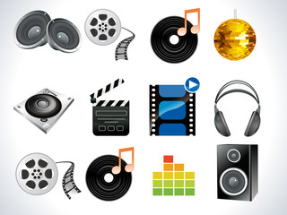 abstract multimedia icon