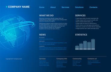 Dark blue website template new 2011 design