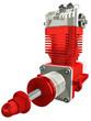 Motor Zweitakter Rot-weiss
