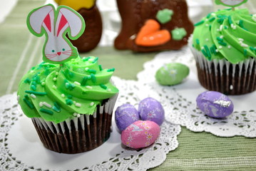 Green Easter Cupcakes