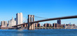 New York City Brooklyn Bridge panorama