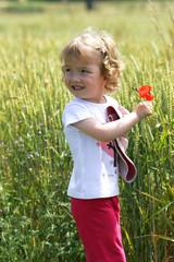 enfant a la campagne