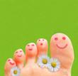 Glückliche Zehen