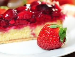 Erdbeere, Obstkuchen