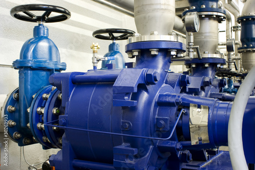 Leinwanddruck Bild Schieber mit Pumpe