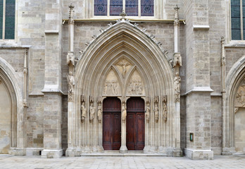 portal of minoriten church in Vienna,Austria