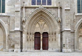 portal of minoriten church in Vienna,Austria