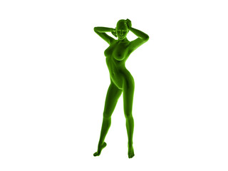 woman fitness 3D rendered Illustration