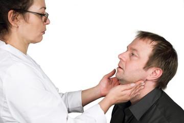 Lymphknotenkontrolle