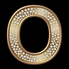 Diamant Buchstabe O