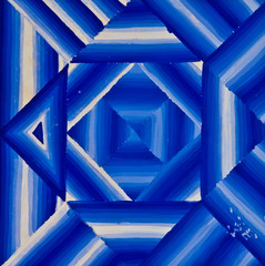 Abstract blue line striped fade out by painting
