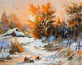 Fototapety Rural winter landscape