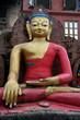 Statue of Buddha in Swayambhunath Temple, Kathmandu, Nepal