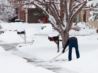 Shovelling sidewalk