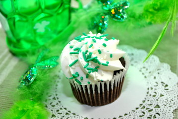 Chocolate ST Patricks Day Cupcake