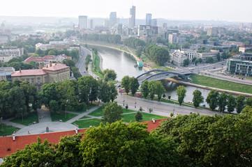 View of Mindaugas Bridge, Vilnius, Lithuania