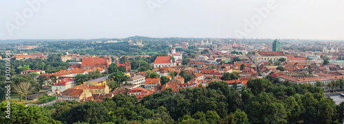 Panoramic view of Vilnius old town, Lithuania
