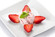 Strawberries and Ice Cream