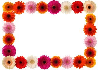 Bunter Blumen Rahmen